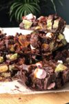stack of Easter rocky road