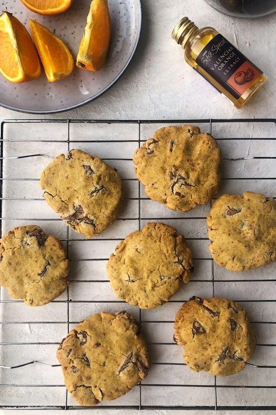 Vegan Chocolate Orange Cookies (Gluten Free, Oil Free)