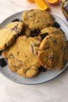 plate of chocolate orange cookies