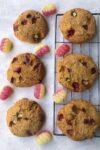 gluten free rhubarb custard cookies