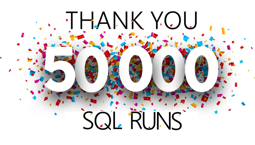 Thank you, 50000 followers. Poster with colorful confetti for social network. Vector background.