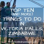 Top things to do Victoria Falls Zimbabwe