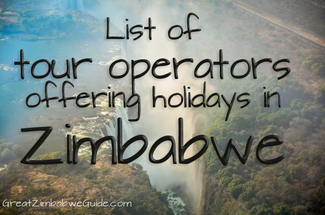 Tour operators Zimbabwe