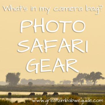 Photo safari gear: My camera bag