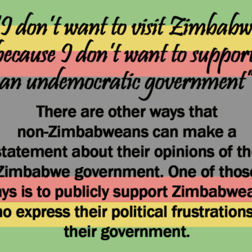 """For the tourists who """"make a statement"""" by avoiding Zimbabwe"""