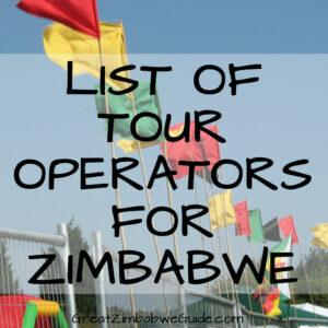 List of tour operators in Zimbabwe Africa