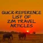 ZIMBABWE TRAVEL ADVICE LIST