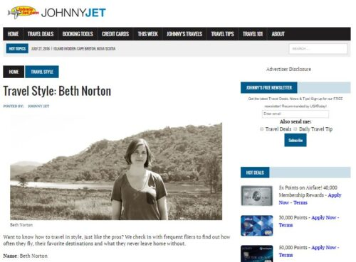 JohnnyJet Beth Norton Travel Style