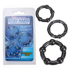 Black Penis Ring Set (3Pieces)