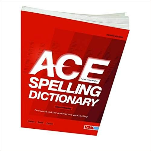 Ace spelling dictionary