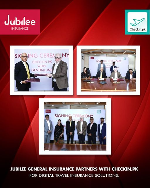 Jubilee General Insurance signs a partnership with Checkin.pk