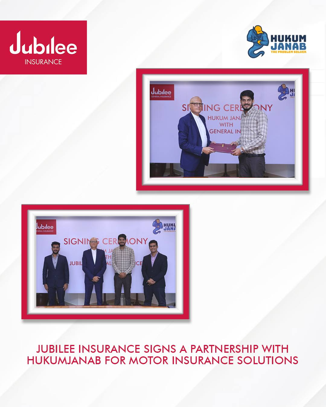 Jubilee General Insurance Partners with HukumJanab
