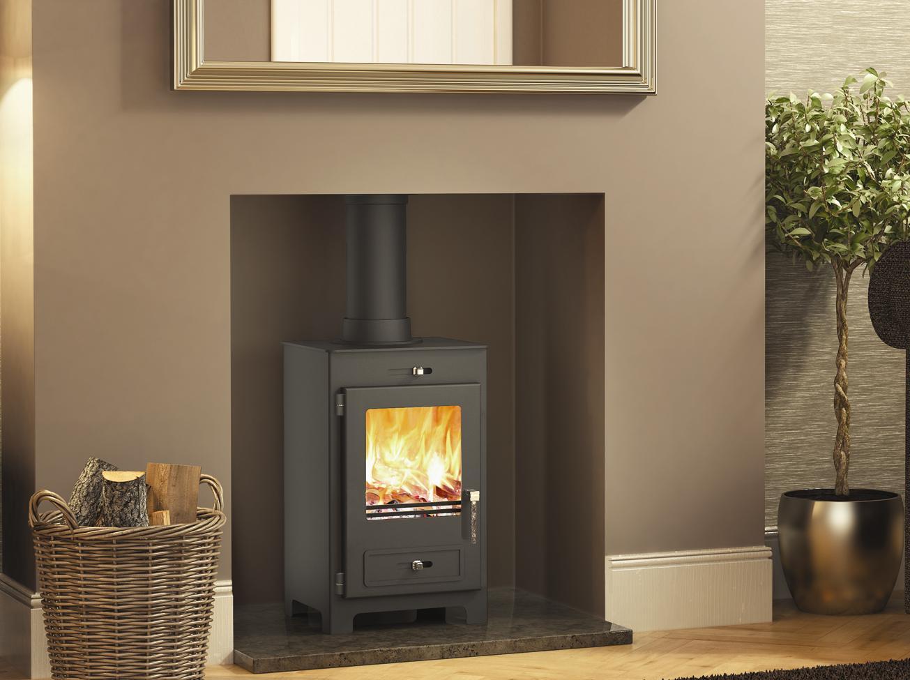 wood burner stove pic
