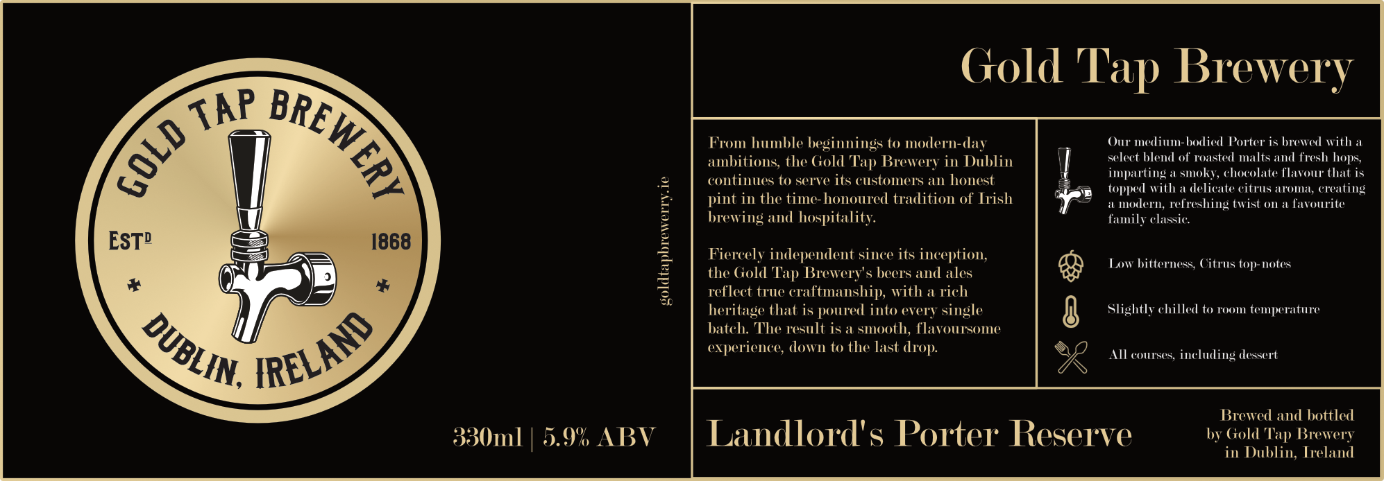 Gold-Tap-Brewery-Label-Black