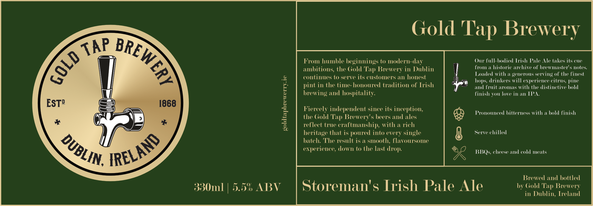 Gold-Tap-Brewery-Label-Green