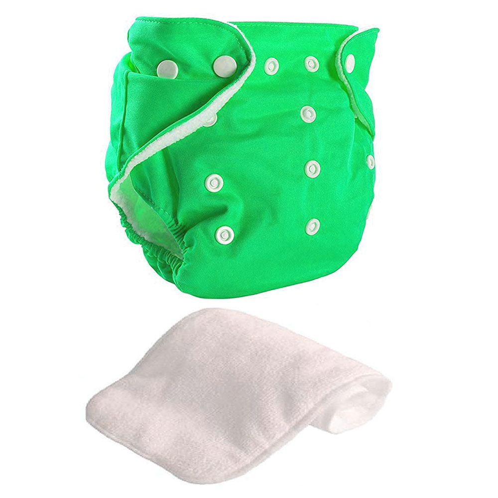Green reusable diaper