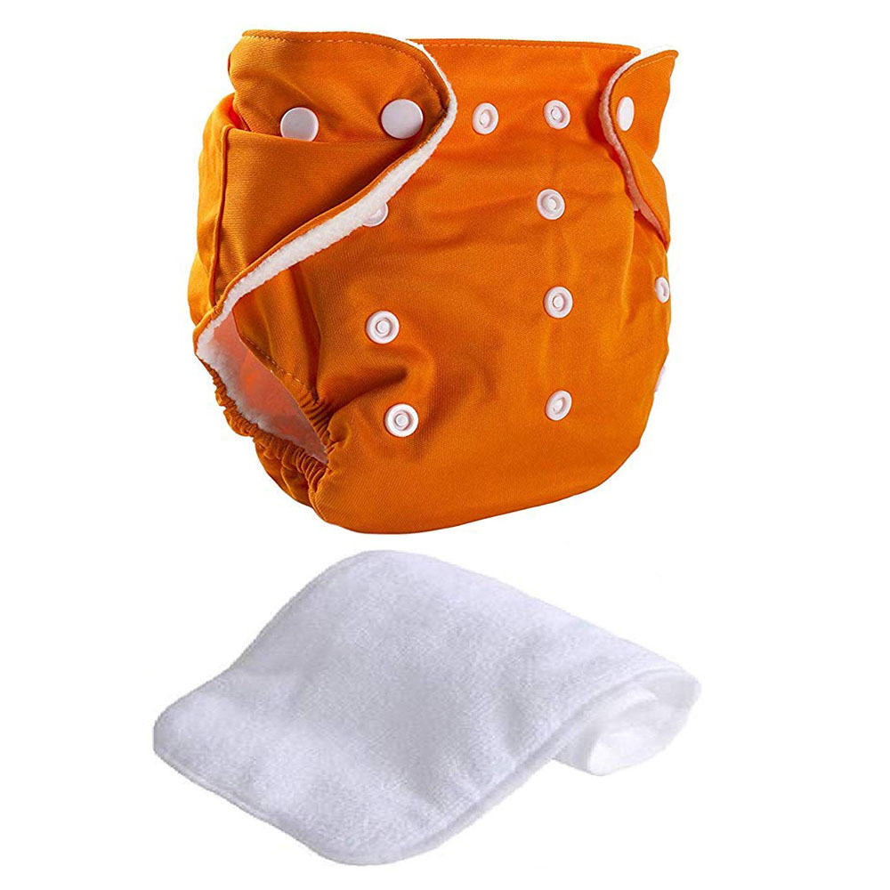 Reusable Cloth Diaper Orange