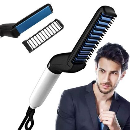 Men's  Electric Beard and Head Hair Straightening Styling Hot Comb