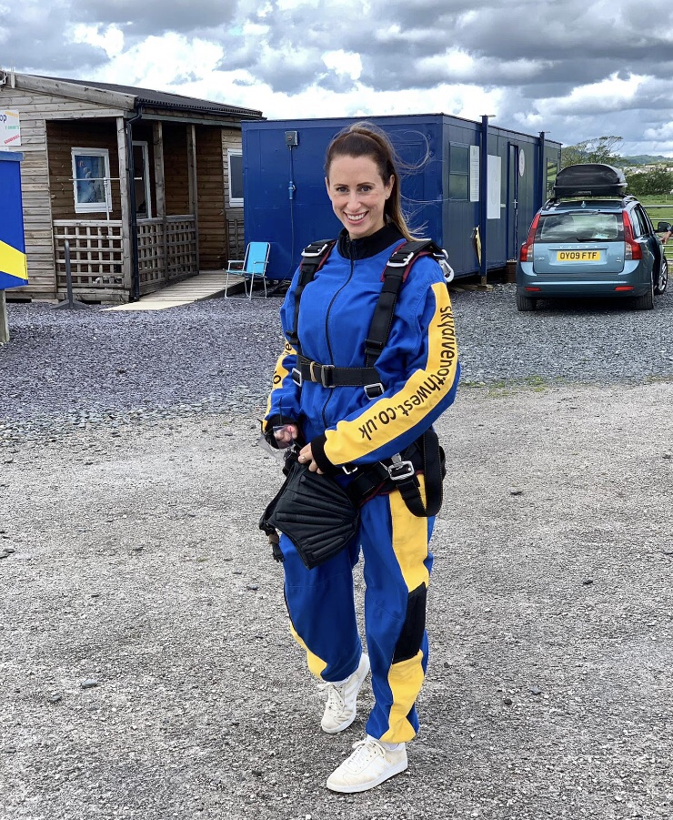 Ready to sky dive