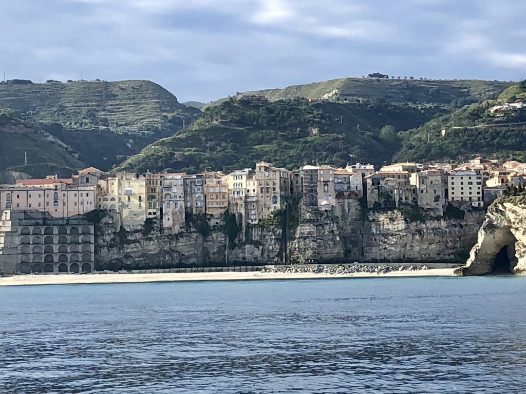 Tropea town from the water