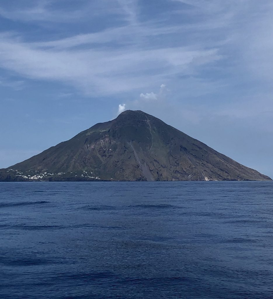Mount Stromboli from our boat