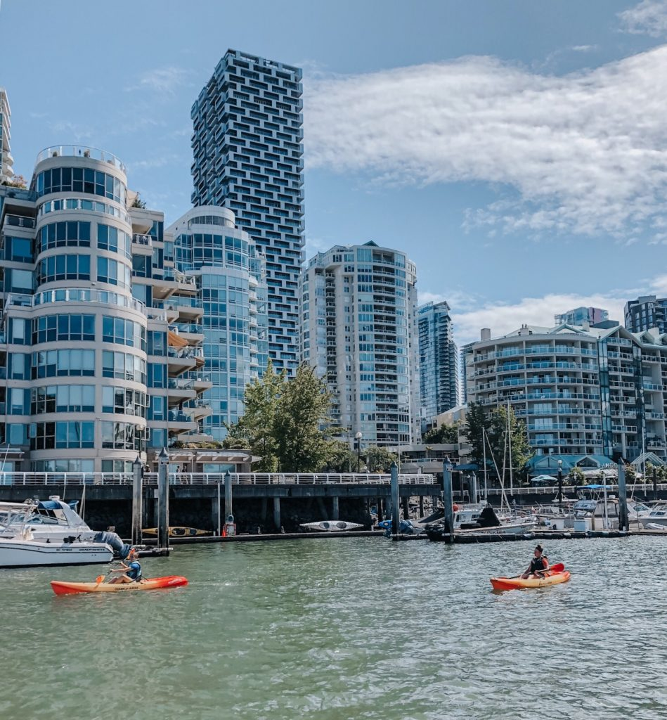 Kayakers by Granville Island