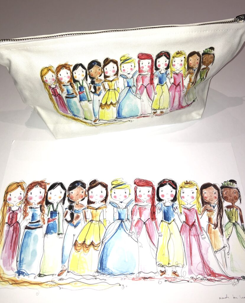 Princess washbag and print