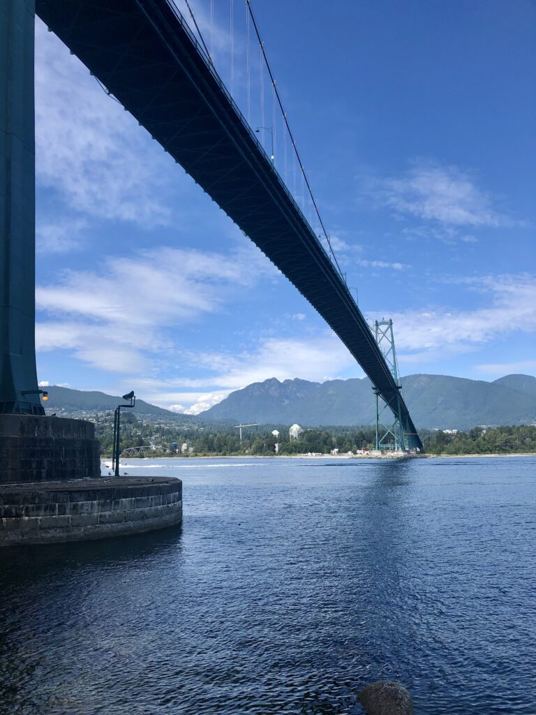 View of Lions Gate Bridge from Stanley Park