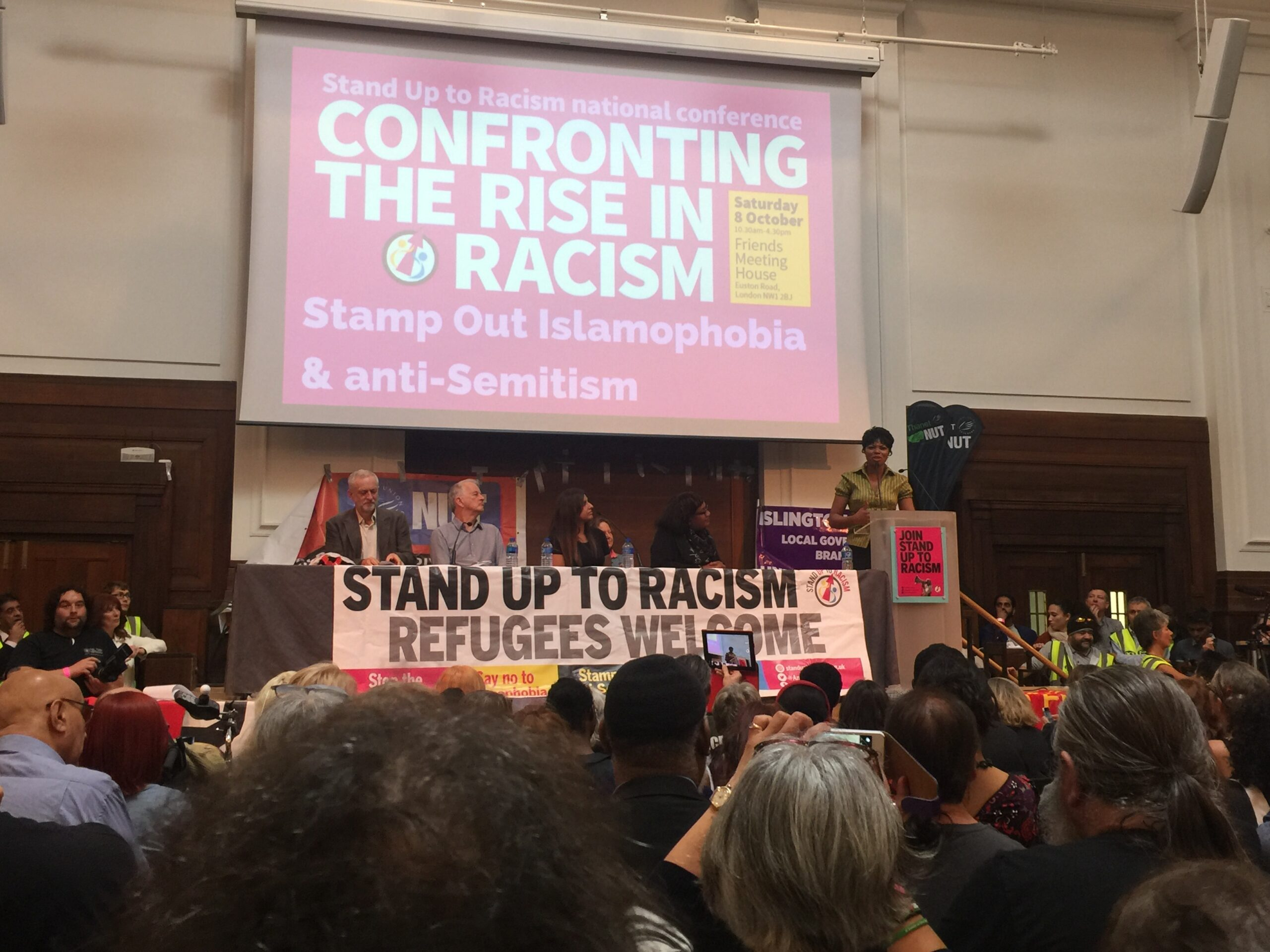 Black Lives Matter Movement at huge Stand Up To Racism conference