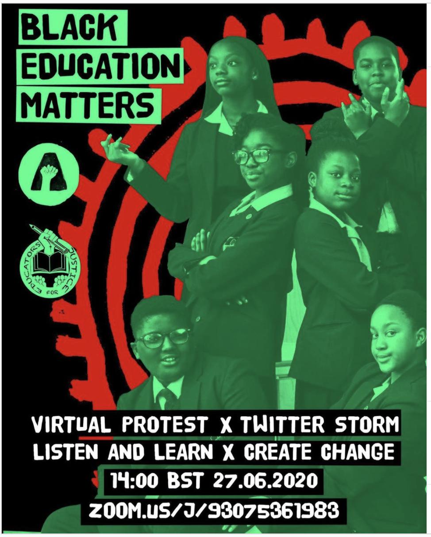 Black Education Matters – Zoom, 2pm Saturday 27 June