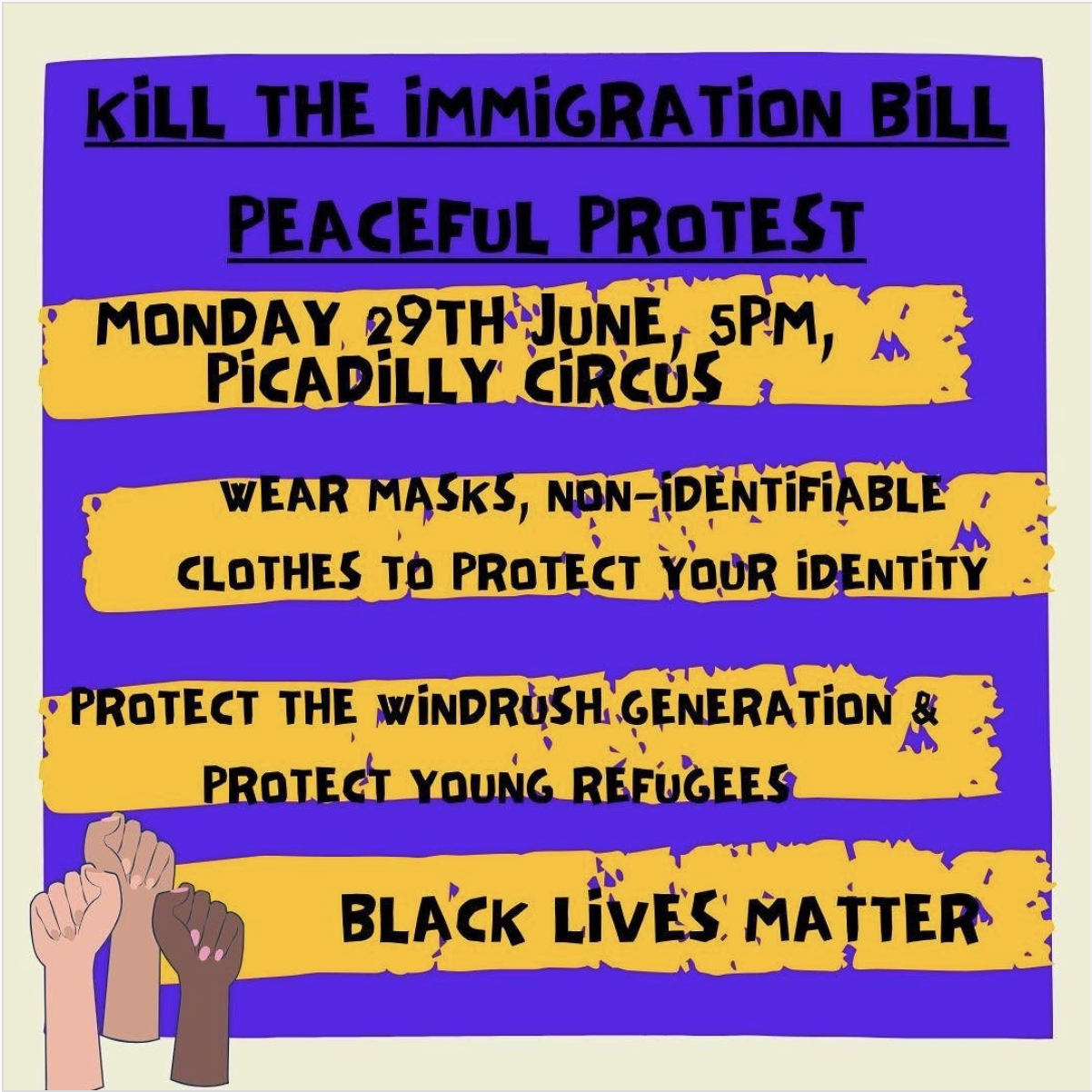 Kill the immigration bill! London, Monday 29 June 5pm