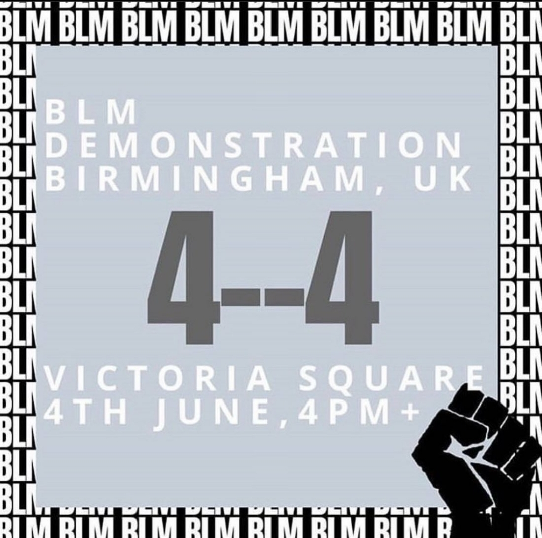 BLM demo Birmingham – justice4George Thursday 4th June