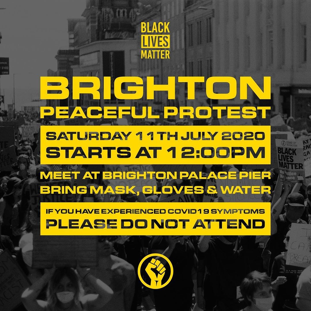 Brighton BLM protest Saturday 11 July