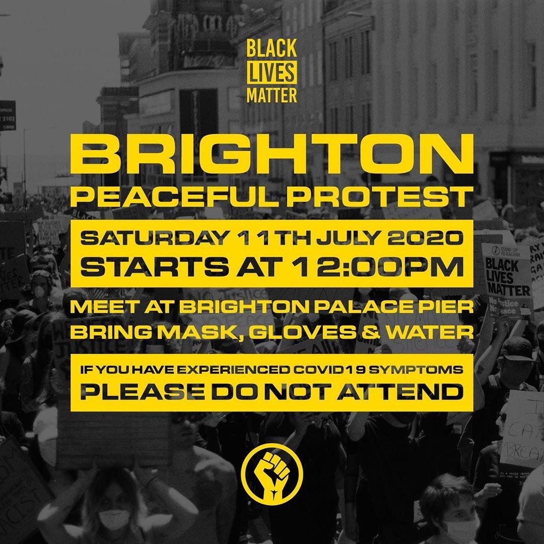 Brighton BLM protest Saturday 11 July