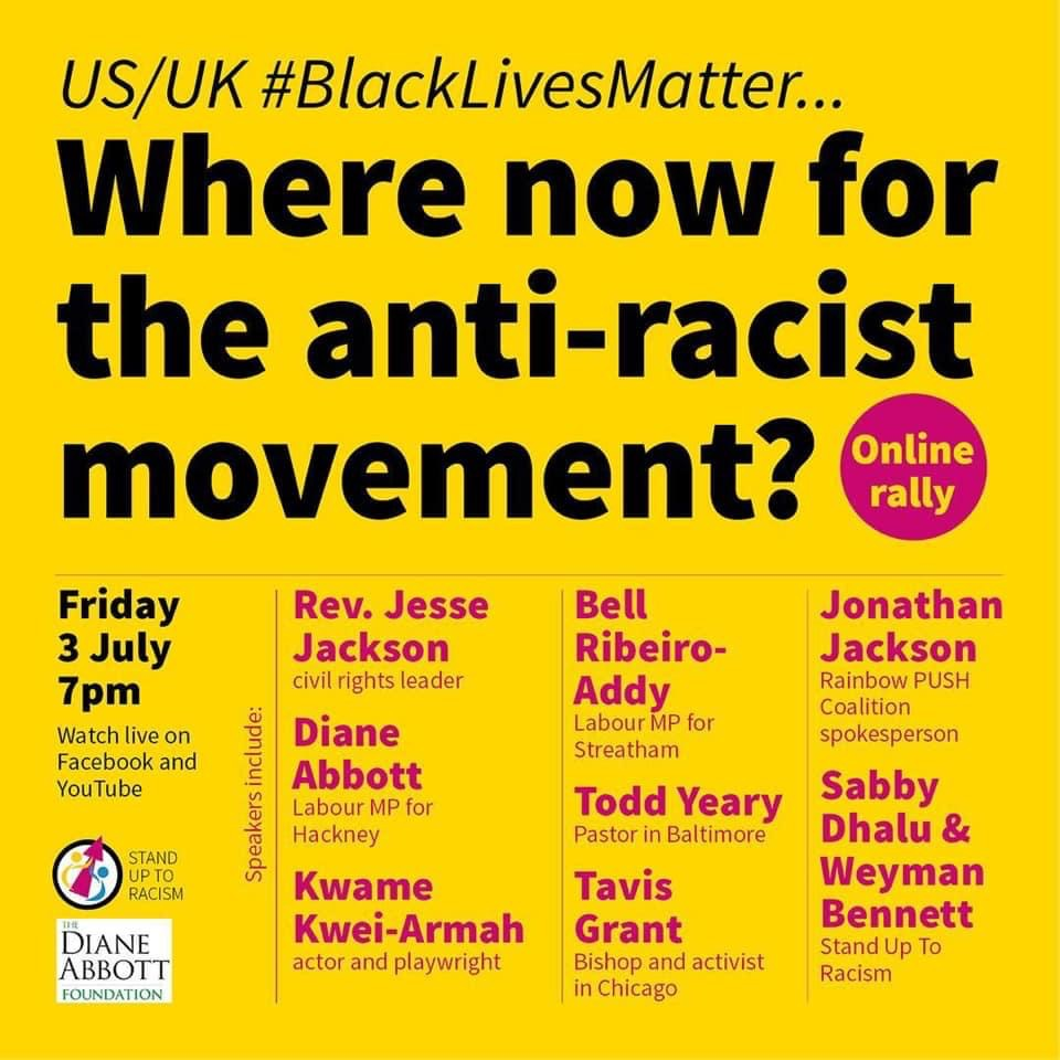 Jesse Jackson speaks! Where next for anti-racism and US / UK BLM?