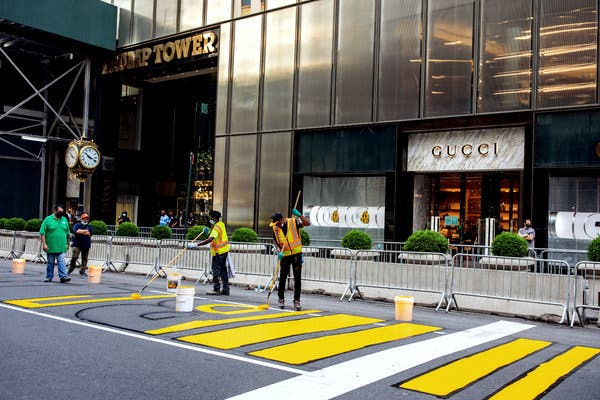 Sprucing up Trump Tower BLM-style