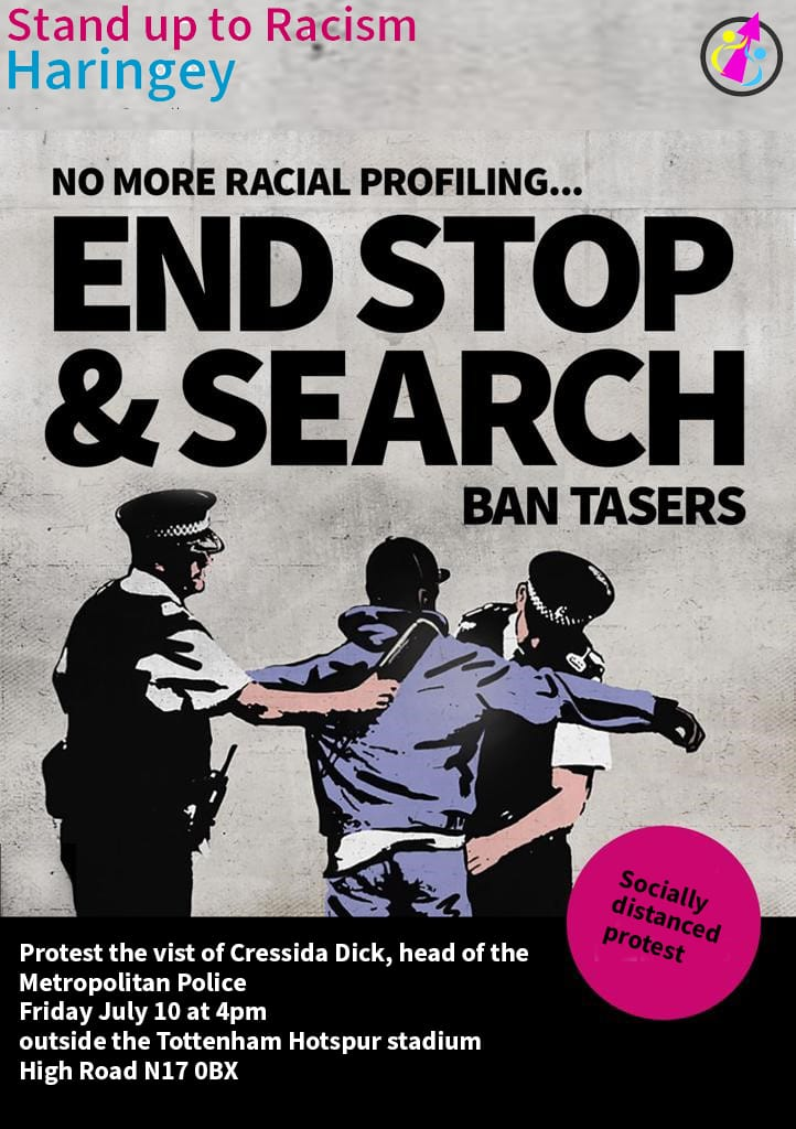 End racist stop and search, scrap Section 60 – protest at Tottenham police station