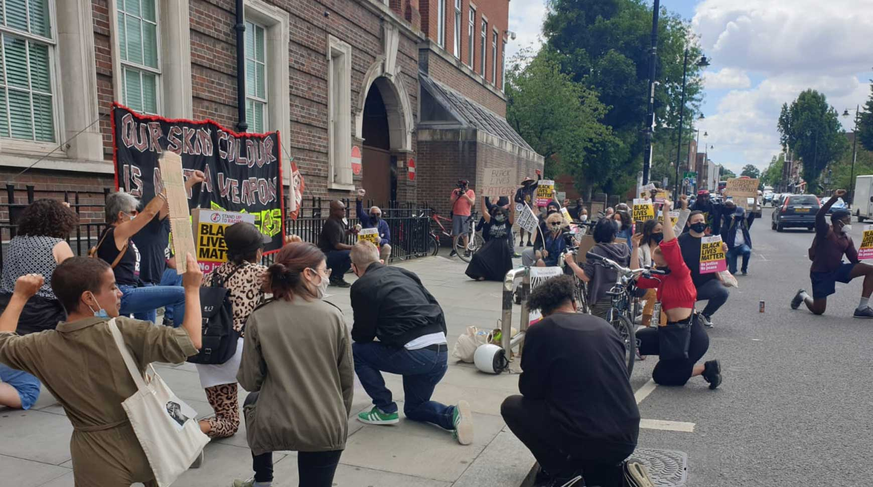 Photos: Tottenham BLM says end Section 60 stop and search and ban tasers now!