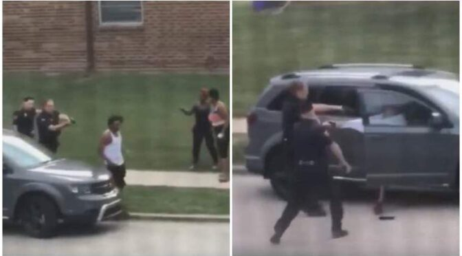Wisconsin cops shoot black man in back 7 times as gets into car with kids