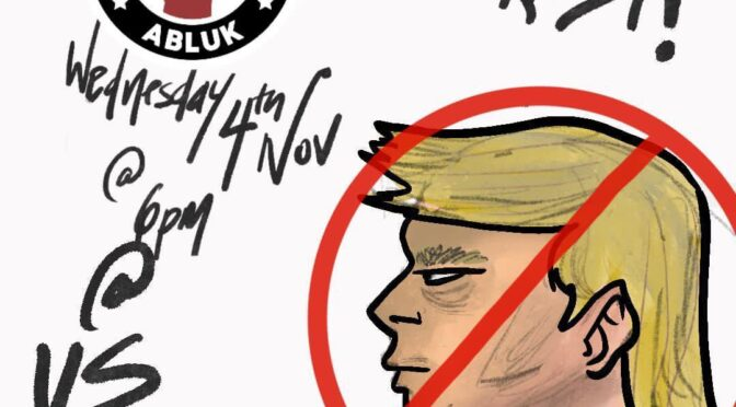 Trump must go! BLM emergency protest 6pm US embassy 4th Nov