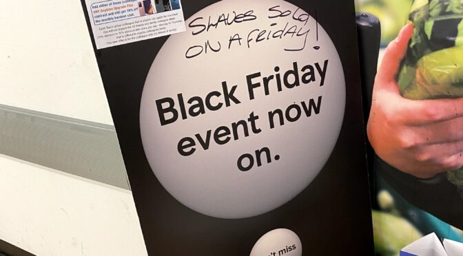 Slaves sold on a Friday racist graffiti shocker at Tesco