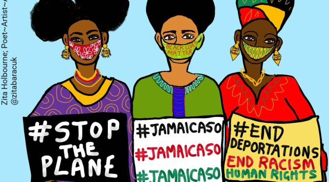 Jamaica50: stop this mass deportation flight! Tories are the real criminals