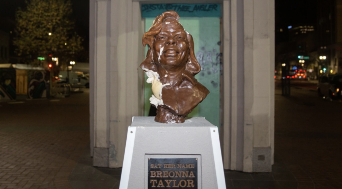 Breonna Taylor statue smashed but $25k raised for bronze replacement
