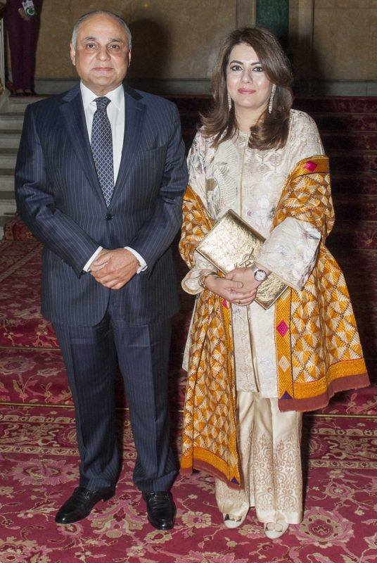 Syed Ibne Abbas, High Comissioner of Pakistan to the UK, and Sadaf Abbas