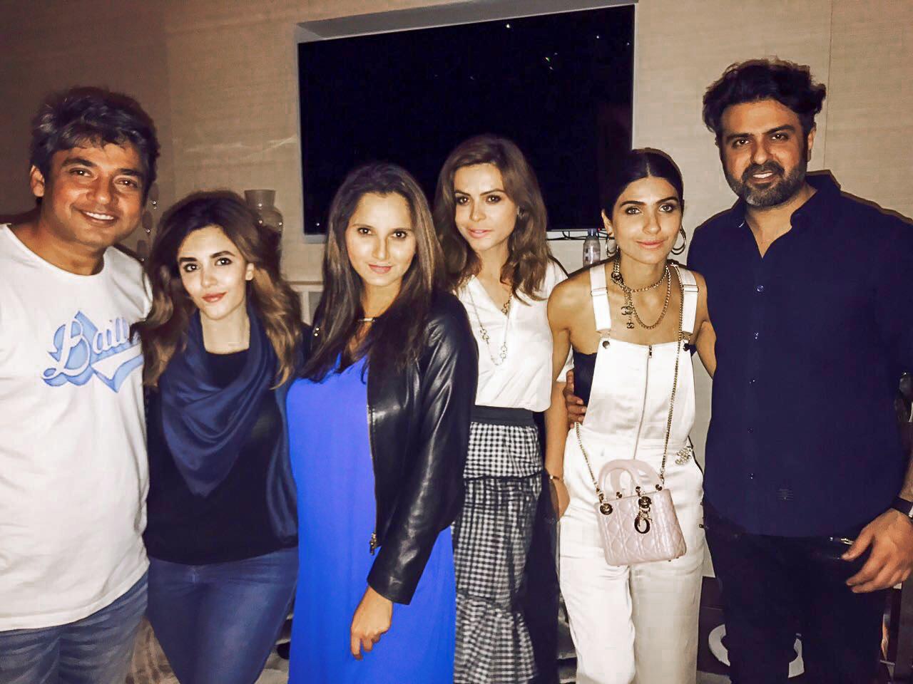 Kiran Malik with Friends