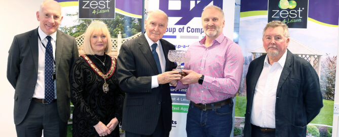 Steve Morgan receives 'Lord Barry Jones Award' as presented by Lord Barry Jones himself