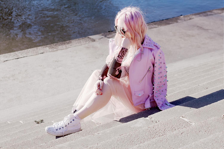 Pink Killstar, Killstar, Tulle Dress, Tulle skirt, Victorian inspired outfit, Waist Cincher Belt