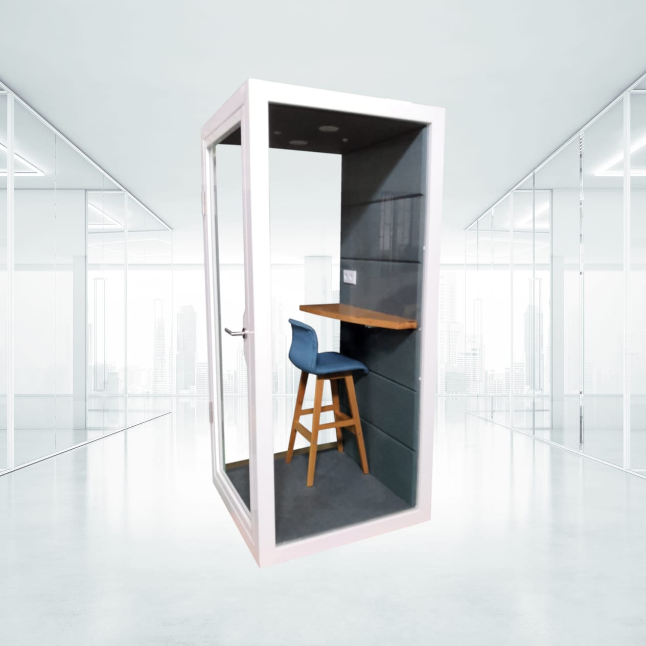 privacy pod natural light office phone booth