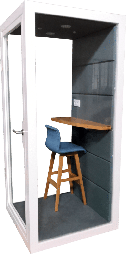 office phone booth privacy pod natural light