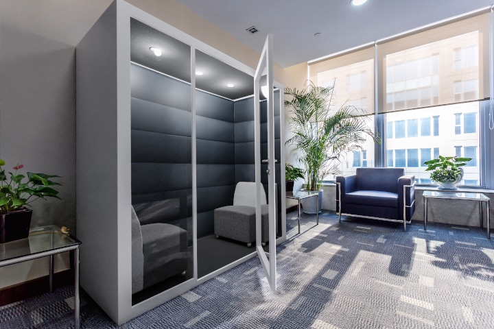 soundproof office meeting pod acoustic booth